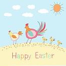 Doodle Easter Illustration