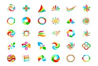 logo design elements set