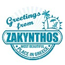 Greetings from Zakynthos stamp