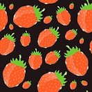 Strawberry, cream abstract hypnotic background. vector illustration