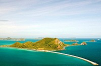 Top view of Peaceful island in Thailand