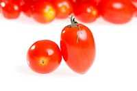 closeup cherry tomatoes