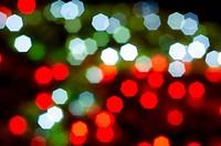 defocused bokeh lights