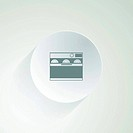 Flat vector icon for dishwasher