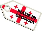 vector label Made in Georgia