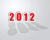 2012 new year greetings in vector