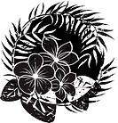 Flower abstract grunge background