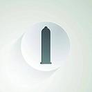 Vector icon for condom