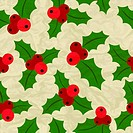 Merry Christmas and Happy New Year seamless pattern.