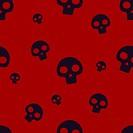 Red Small Skull Pattern