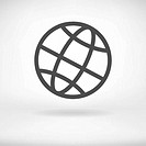 Globe sign vector