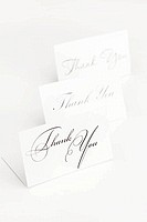 card signed thank you isolated on white