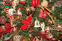 Christmas Tree with Many Decorations