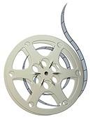 Film reel isolated