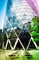 England, London, The Swiss Re Building ´Gherkin´, Sir Norman Foster Building.