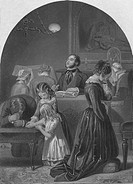 'Family Worship', c1870. Artist: Edward Henry Corbould.