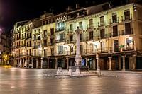 Plaza del Torico by night, Teruel, Aragon, Spain.