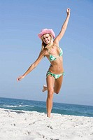 Young woman on beach holiday