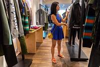 Paris, France, people Shopping, Luxury Fashion Brand Stores, Kenzo, Place de la Madeleine.