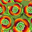 Beautiful decorative floral ornamental seamless pattern