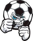 Fighting Soccer Ball Vector Illustr