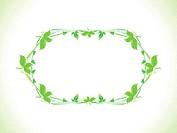 abstract green eco border