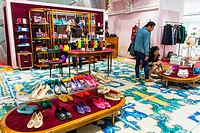 Paris, France, People Shopping in French Department Store, Printemps, Luxury Brands, Dolce & Gabbana.