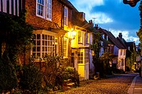 Period Houses In Mermaid Street, Rye, Sussex, UK.