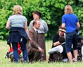 Filming for the final series of Downton Abbey in Bampton Featuring: Lesley Nicol Where: Bampton, United Kingdom When: 11 Jun 2015 Credit: WENN.com