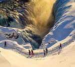 Gullfoss waterfall in the winter, Iceland.
