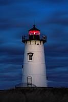 Edgartown Lighthouse at night, Martha´s Vineyard, Massachusetts, USA.