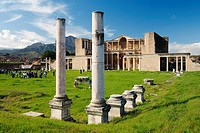 The bath gymnasium complex of the ancient Lydian Persian Greek Roman city of Sardis, Lydia, Turkey.