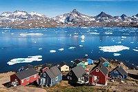 The colorful and remote village of Tasiilaq, east Greenland.