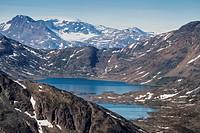 Mountain landscape, Tasiilaq, Greenland.