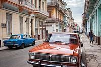 Street scene in San Rafael street,Centro Habana District, La Habana, Cuba.