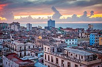 View of Centro Habana district, La Habana, Cuba.