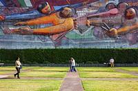 `El pueblo a la universidad, la universidad al pueblo por una cultura nacional neohumanista de profundidad universal´ mural by David Alfaro Siqueiros,...