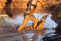 Adventure race and mud. Military training