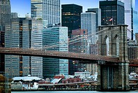 New York City, Brooklyn Bridge, Manhattan, Skyline