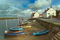 The East Quay at Wells Harbour Norfolk UK Autumn.