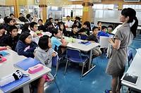 Aguni Island (Okinawa, Japan): class at the local school
