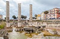 Roman Temple of Serapide, Pozzuoli, Italy.