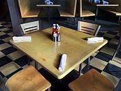 Restaurant table in Denver, CO.