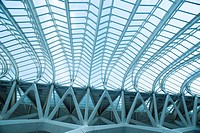 View below ceiling of the Museum of Sciences Prince Felipe, Valencia, Spain, Europe