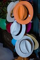 Hats for sale, tourist shop, Marrakech, Morocco