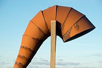 Caracola, sculpture Moncho Amigo in the tip Herminia, A Coruña Sculpture park of the Tower of Hercules, A Coruña, Galicia, Spain, Europe
