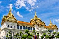 Phra Thinang Chakri Maha Prasat throne hall, Grand Palace complex, Bangkok, Thailand.