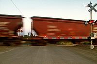 BNSF train at East Babb siding, Cheney, Washington, USA.