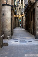 Ancient streets of Barcelona