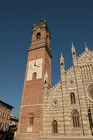 Monza Cathedral with bell tower in Lombardy, Italy